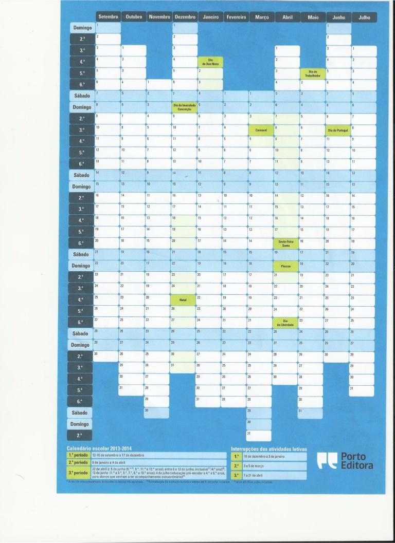 portugal mapa escolar porto editora mapa escolar Calendário escolar 2013/2014   Sebenta Digital portugal mapa escolar porto editora mapa escolar